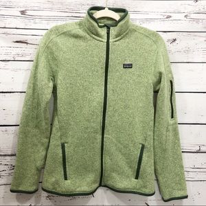 Patagonia Better Sweater Full Zip: Heathered Green